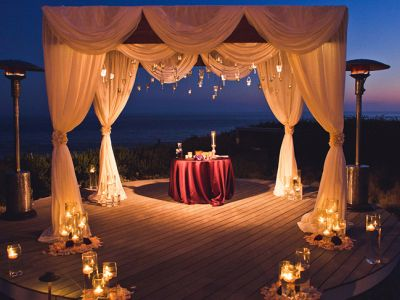 31 Sunset Chuppah Hanging Candles Floating Candles Sunset Ceremony