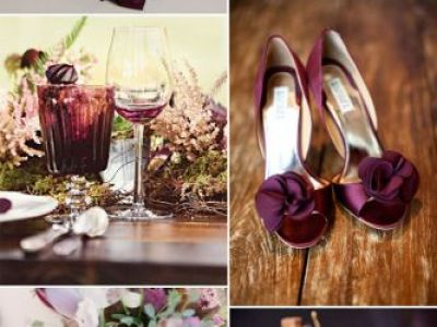 Aubergine Wedding Color Ideas For Fall Winter Wedding 2015 2016