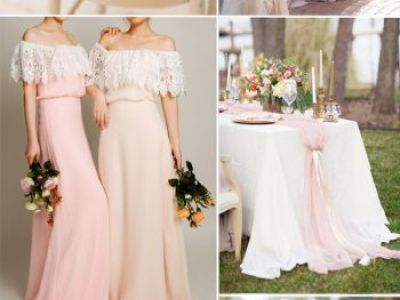 Blush And Rose Wedding Color Combo Ideas For Spring Summer Weddings