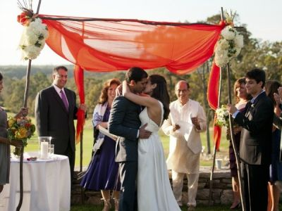 Chuppah Made From Sari Material Jewish Hindu Interfaith Wedding