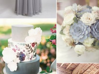 Gray Wedding Color Ideas For Fall Winter Wedding 2015