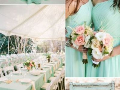 Mint And Peach Wedding Color Inspiration Ideas