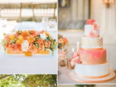 Peach Orange Wedding Color Ideas For Fall Wedding 2015