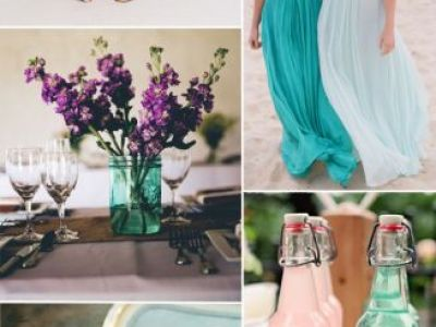 Seafoam Short Brideesmaid Dresses For Summer Beach Weddings