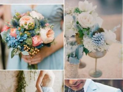 Sky Blue And Pink Wedding Color Combination Ideas