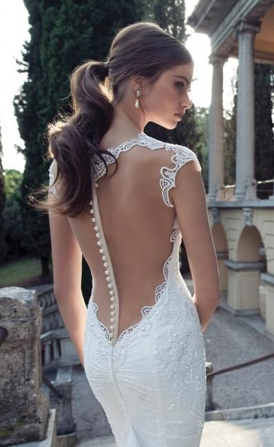 a brilliant bridal back dress wedding